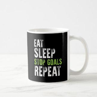 Taza De Café Coma la camisa de la repetición de las metas de la