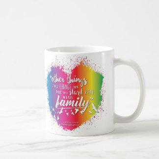 Taza De Café Comenzamos y terminamos con la familia - Drinkware