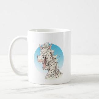 """Taza De Café Compañero del caballo del Appaloosa del """"dominó"""""""