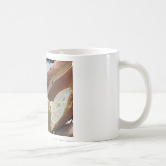 Taza De Café Composición con diversos tipos de pan cocido