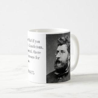 Taza De Café Compositor de Georges Bizet de Carmen y de la cita