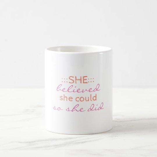 Taza de café con cita