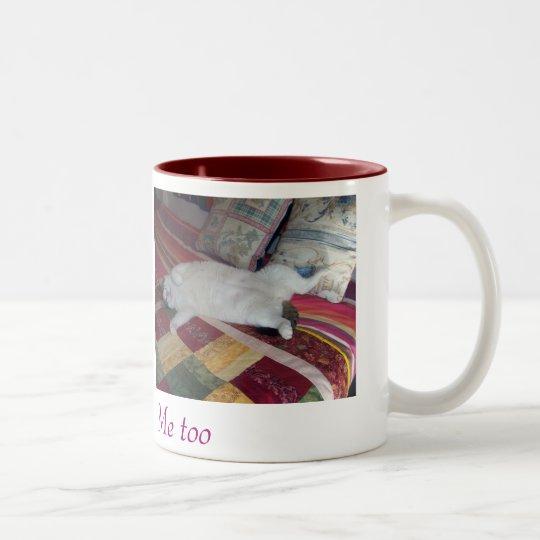 Taza de cafe con dos gatos