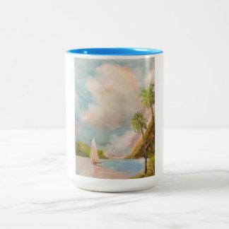 Taza de café con el velero
