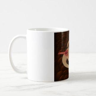 Taza de café con los bocados de chocolate oscuro