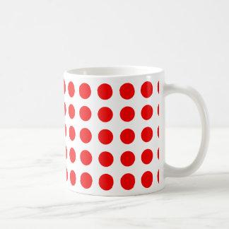 Taza de café con los lunares rojos