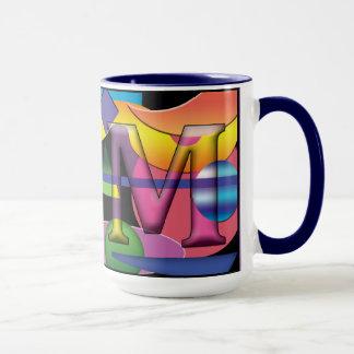 Taza de café con monograma del RM