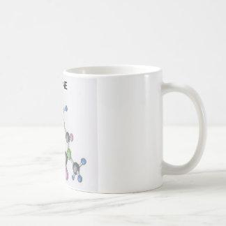 taza de café con una imagen de una molécula del