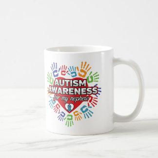 Taza De Café Conciencia del autismo para mi sobrino
