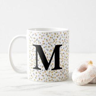 Taza De Café Confeti del monograma