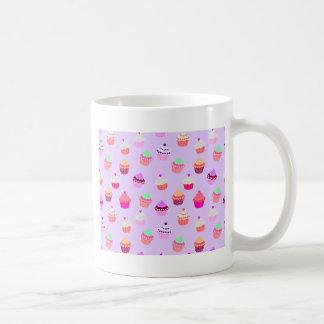 Taza De Café Confeti púrpura de la magdalena