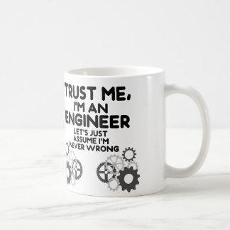 Taza De Café Confíeme en, yo son un ingeniero divertido