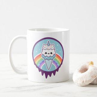 Taza De Café Cono de helado lindo del unicornio