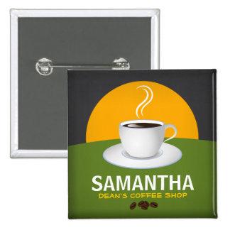 Taza de café conocida de la cafetería de las chapa cuadrada 5 cm