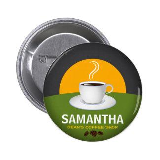 Taza de café conocida de la cafetería de las chapa redonda 5 cm