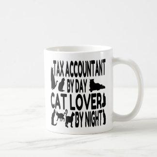 Taza De Café Contable del impuesto del amante del gato
