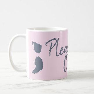Taza De Café Continúe por favor la taza-Recuperación-Ayuda