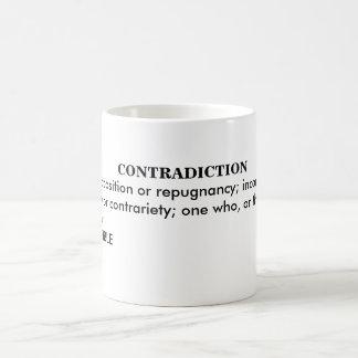 TAZA DE CAFÉ CONTRADICCIÓN