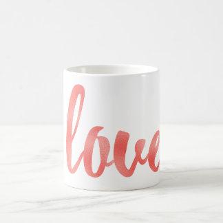 Taza de café coralina del amor, hoja