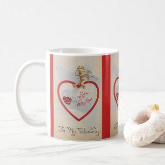 Taza De Café Corazón 1909 de la tarjeta del día de San Valentín