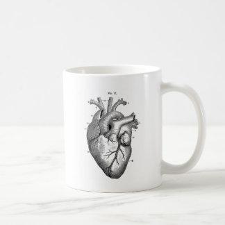 Taza De Café Corazón anatómico negro
