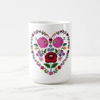 Taza De Café Corazón de Kalocsai del húngaro