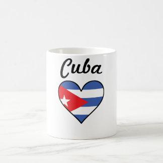 Taza De Café Corazón de la bandera de Cuba
