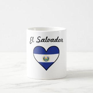 Taza De Café Corazón de la bandera de El Salvador