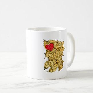 Taza De Café Corazón del otoño