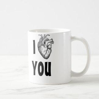 Taza De Café Corazón I que usted asalta (corazón anatómico)