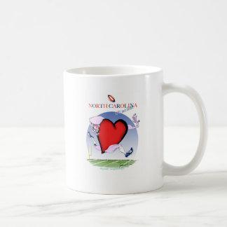 Taza De Café corazón principal de Carolina del Norte, fernandes