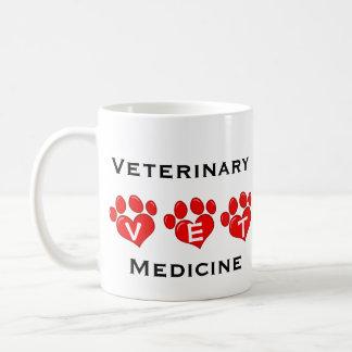 Taza De Café Corazones de la veterinaría