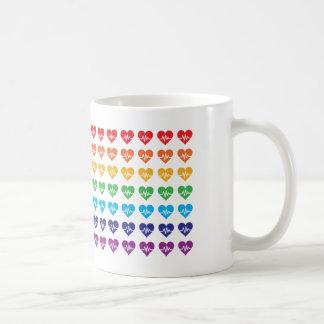 Taza De Café Corazones de un de Orlando una arco iris 49 del