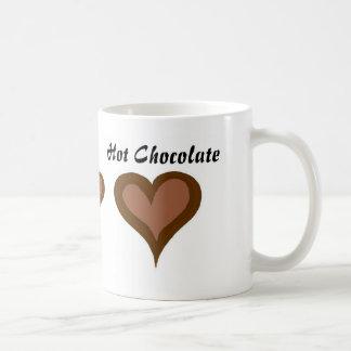 Taza De Café Corazones del chocolate caliente