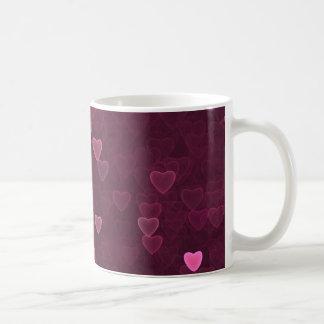 Taza De Café Corazones rosados de Bokeh