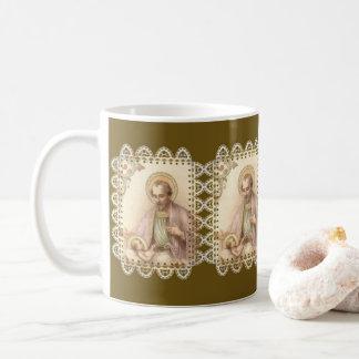 Taza De Café Cordón de Jesús del bebé de San José