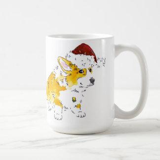 Taza De Café Corgi del gorra de Santa