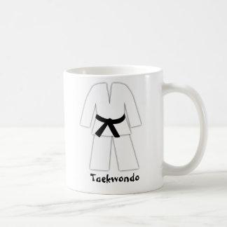 Taza De Café Correa negra del karate del Taekwondo