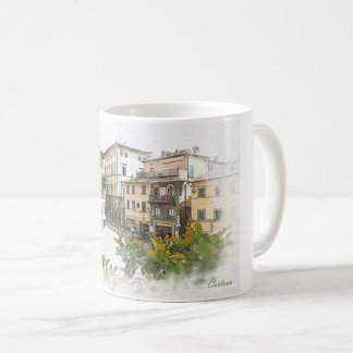 Taza De Café Cortona. Italia. Toscana
