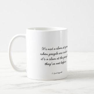 Taza de café cotizable - rudeza