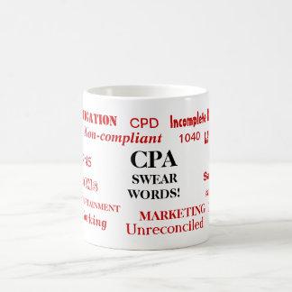 Taza De Café ¡CPA jura palabras! Chiste divertido de CPA