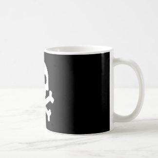 Taza De Café Cráneo blanco mig