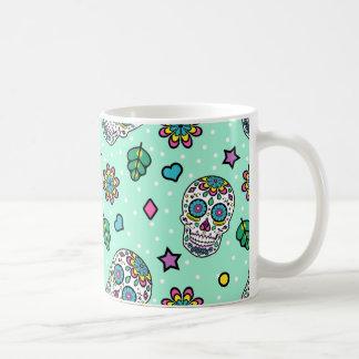 Taza De Café Cráneo colorido del azúcar del caramelo