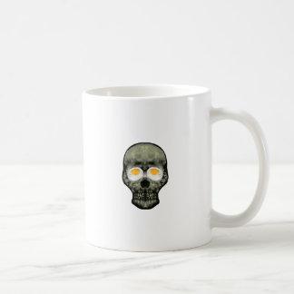 Taza De Café Cráneo con los ojos del huevo frito