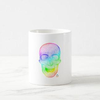 Taza De Café Cráneo de la pendiente 3d