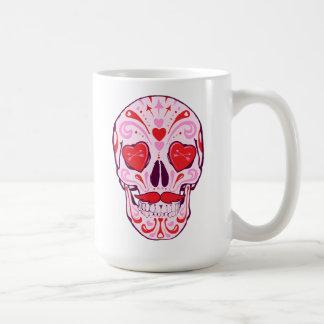 Taza De Café Cráneo del azúcar del corazón
