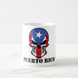 Taza De Café Cráneo puertorriqueño Puerto Rico de la bandera