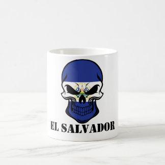 Taza De Café Cráneo salvadoreño El Salvador de la bandera del