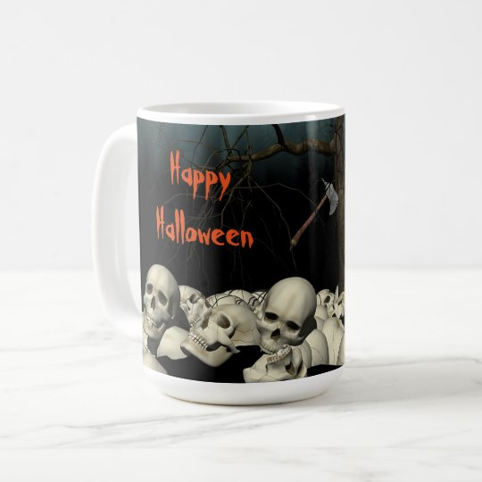Taza De Café Cráneos y cita de Halloween