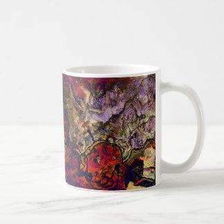 Taza De Café Crema roja de la tarde abstracta de encargo y